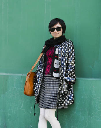 Play with Polka Proportions Chaoyang District Beijing Street Style1