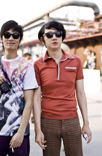 Certainly '70s Electric music beijing street style 7981
