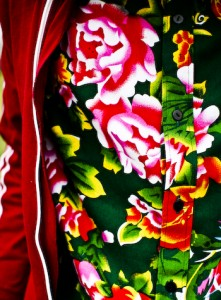 Floral Shirt in Traditional Chinese Fabric (1 of 1)