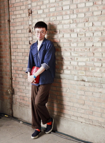Factory Boy Graphic Designer Meng Beijing Street Style workers jacket1