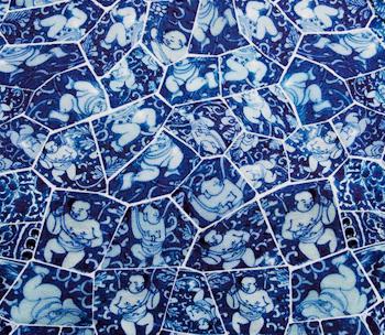The Cotton Porcelain Polo LI Xiaofeng LACOSTE Printed Porcelain Man Flat Picture2