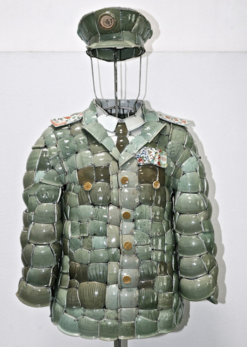 Earlier Work of Li Xiaofeng Lacoste x Li Xiaofeng collectors series 2010 Soldier 1 2009 Celadon shards from Song and Yuan Dynasty1