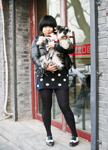 Adorable Owner, Aggressive Canine 可爱的老板娘,可怕的宠物狗 Nanluoguxiang Street Fashion1