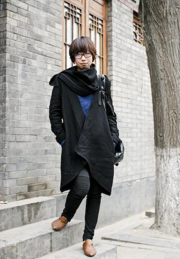 Ziggy on Nanluoguxiang Qinghua Fashion Design student1