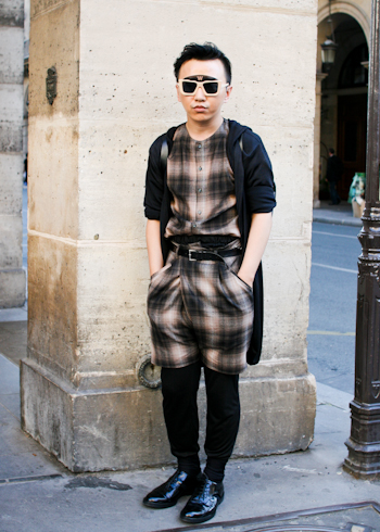 Xander Zhou in Paris Xander Zhou Paris Fashion Week Rue de Honore beijing11