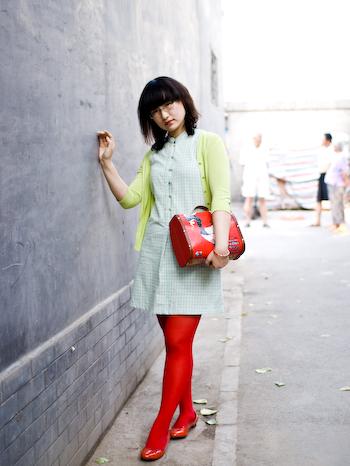 A Red Ren beijing street style renren wang1