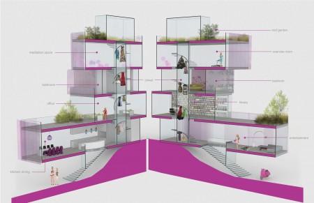 Barbie Dream House interiors